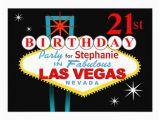 21st Birthday Vegas Invitations Las Vegas 21st Birthday Party 13 Cm X 18 Cm Invitation