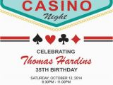 21st Birthday Vegas Invitations Las Vegas Casino Birthday Invitation for An Adult Birthday