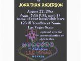 21st Birthday Vegas Invitations Las Vegas Strip Sign 21st Birthday 5×7 Paper Invitation