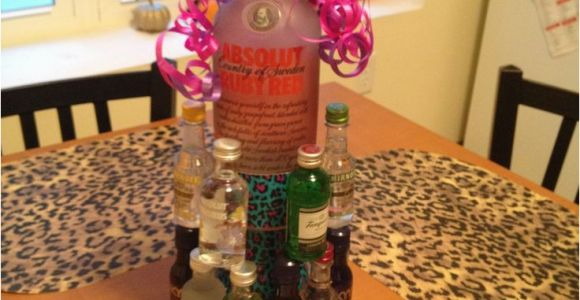 22nd Birthday Gift Ideas for Her Alcohol Nipper Cake for A Friends Birthday We Did This