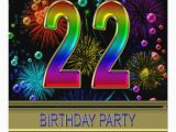 22nd Birthday Party Invitations 22nd Birthday Party Invitation with Bubbles Zazzle