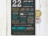 22nd Birthday Present Ideas for Him Us Fun Facts 1996 22nd Birthday Gift for Him Brother son