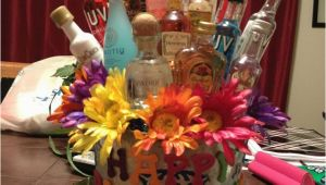 23rd Birthday Gifts for Her Maria 39 S 23rd Birthday Shot Gift Basket Shot Bottle Gift