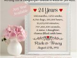 24 Gifts for 24th Birthday for Him 24th Anniversary 24 Years together Gift to Wife Gift for