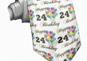 24th Birthday Gifts For Her Happy With Balloons Zazzle