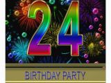 24th Birthday Party Ideas for Him 24th Birthday Party Invitation with Bubbles