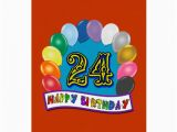 24th Birthday Presents for Him 24th Birthday Gifts with assorted Balloons Design Card