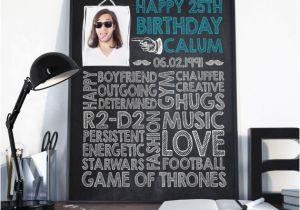 25th Birthday Gifts for Him 25th Birthday Birthday Gift for Him Birthday Sign Birthday