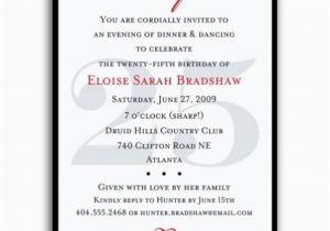 25th Birthday Invitation Templates Surprise Party Invitations Bagvania Free