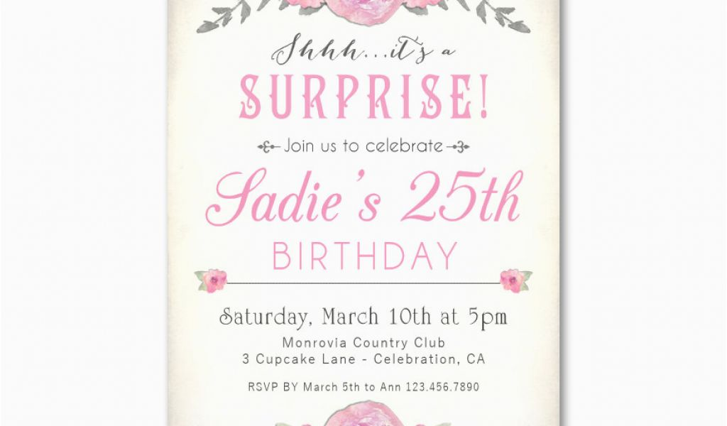 Download By SizeHandphone Tablet Desktop Original Size Back To 25th Birthday Invitation Templates