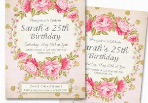 25th Birthday Invitation Templates Surprise Party Invitations Bagvania Free