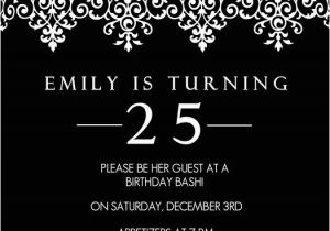 25th Birthday Invitation Templates Silver Age Invitations Bagvania Free