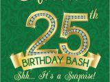 25th Birthday Invite 25th Birthday Invitation Adult Birthday Party Invitation