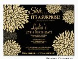 25th Birthday Invite 25th Birthday Invitation Surprise Birthday Party by