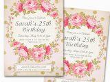25th Birthday Invite 25th Surprise Birthday Party Invitations Bagvania Free