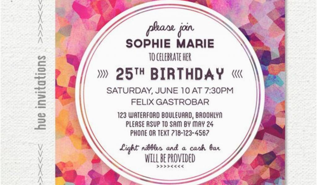 Download By SizeHandphone Tablet Desktop Original Size Back To 25th Birthday Invite