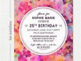 25th Birthday Invite Geometric 25th Birthday Party Invitation Adult Birthday