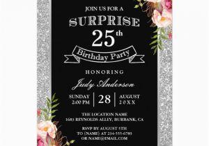25th Birthday Invite Personalized Invitations