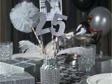 25th Birthday Party Decorations 25th Anniversary Party Mason Jar Centerpiece Idea