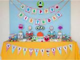 2nd Birthday Decorations for Boy Kara 39 S Party Ideas Colorful Monster Birthday Party