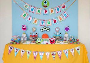 2nd Birthday Decorations For Boy Kara 39 S Party Ideas Colorful Monster