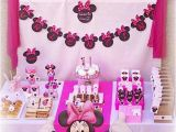 2nd Birthday Decorations for Girl Kara 39 S Party Ideas Disney Minnie Mouse Girl Pink 2nd