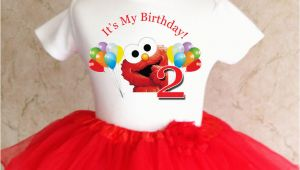 2nd Birthday Girl Outfits Elmo Red Rainbow Balloons 2nd Second Birthday Shirt Tutu