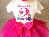 2nd Birthday Girl Outfits Frozen Pink Anna Elsa Olaf Second 2nd Birthday Shirt Tutu