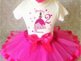 2nd Birthday Girl Outfits Hot Pink Tiana Princess Frog and 2nd Second Birthday Shirt