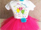 2nd Birthday Girl Outfits Pink Blue Balloons Girl 2nd Second Birthday Shirt Tutu