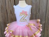 2nd Birthday Girl Outfits Second Birthday Outfit Second Birthday Set by