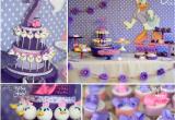 2nd Birthday Girl themes Kara 39 S Party Ideas Disney Daisy Duck Purple Girl 2nd