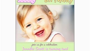 2nd Birthday Invitation Wording Samples 2nd Birthday Pink Invitations Paperstyle
