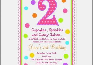 2nd Birthday Invitation Wording Samples 2nd Birthday Invitations