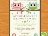 2nd Birthday Invitations for Twins 58 Best Twins 2nd Birthday Ideas Images On Pinterest Owl