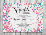 2nd Birthday Invitations for Twins Baby Boy Girl Twins Sprinkle Shower Invite Glitter