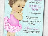 2nd Birthday Invitations for Twins Items Similar to Vintage Ballerina Birthday Invitation for