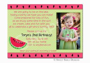 2nd Birthday Invite Wording Invitation A Cake