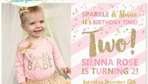 2nd Birthday Party Invitations Girl