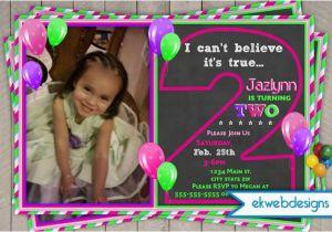 2nd Birthday Party Invitations Girl Little Custom