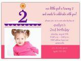 2nd Birthday Thank You Card Wording Birthday Cake Girl Photo Second Birthday Invitations