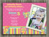 2nd Birthday Thank You Card Wording Printable butterfly Birthday Photo Invitation Girl First
