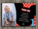 2nd Birthday Thank You Card Wording Printable Mickey Mouse Photo Thank You Card Birthday