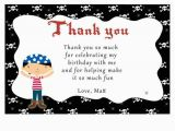 2nd Birthday Thank You Cards Printable Personalized Pirate Thank You Card Notes 1st 2nd