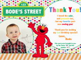 2nd Birthday Thank You Cards Sesame Street 2nd Birthday Invitations Best Party Ideas