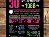 30 Year Old Birthday Decorations 1988 Sign 1988 30 Year Old Birthday 30th Birthday for