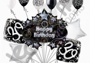30th Birthday Decorations Black And White 11 Pc Happy Balloon Decoration Party Elegant