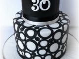 30th Birthday Decorations Black and White Black White 30th Cakecentral Com