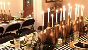 30th Birthday Decorations Black and White Gold and White Party Decorations Inspirational Gold Black