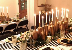 30th Birthday Decorations Black And White Gold Party Inspirational